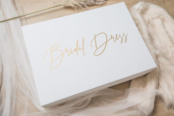 Brautkleidbox weiß groß