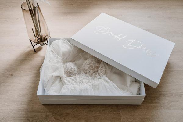 Brautkleidbox und Weddingdressbox zum lagern von Brautkleidern